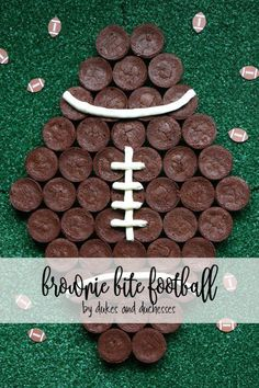 brownie bite footbal