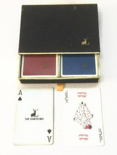 Vintage Hartford Playing Cards Double Deck by ThriftyTheresa