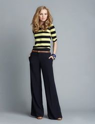 This looks like a truly neat itemCassidy Wide Leg Pant, $74.90  Shirred Sleeve Tee, $32.90