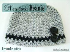 Free Crochet Pattern - Newborn Beanie