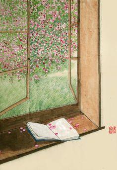 2.7.春深一室闲静,水远两岸清平。花开花落总关情。心起梦中念,舟往云边行。/ 诗书半卷读罢,有人弄箫长亭。但闻呜咽不知名。风烟总寂寞,乱红自飘零。