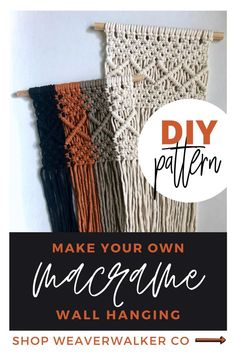 Stella is a beginner to intermediate level pattern for those who are newer to macrame