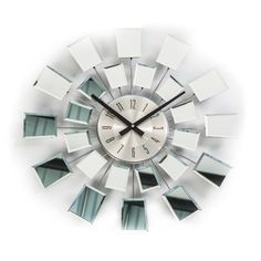 World Friendly World 'Checker' Wall Clock Modern Clock, Mid-century Modern, Modern Wall, Mirror Wall Clock, Diy Clock, Wood Clocks, Mid Century Decor, Lowes Home Improvements, Antiques
