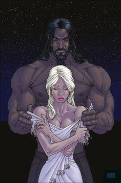Daenerys Targaryen and Khal Drogo comic style by dracarysVG.deviantart.com on @deviantART