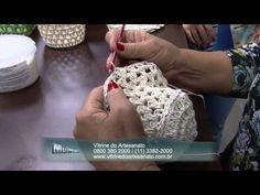 Mulher.com 05/08/2014 - Cachepo Croche Endurecido por Carmem Freire - Parte 1 - YouTube