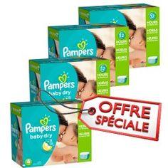 Maxi Giga Pack Jumeaux d'une quantité de 920 Couches de Pampers Baby Dry taille 4 sur Couches Zone