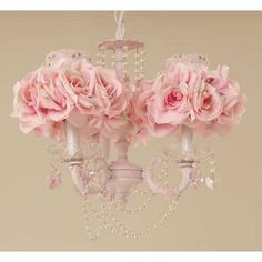 OK, not a bouquet or centrepiece BUT it's a rose chandelier! And it's lovely :)