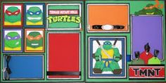 Teenage Mutant Ninja Turtles Scrapbook Page Layout