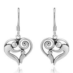 Amazon.com: 925 Sterling Silver Heart-Shaped Mother and Child Earrings, Gift for Mom Love Mom, Mother's day gift Jewelry for Women- Nickel F...