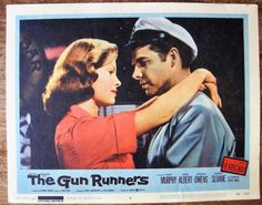 "THE GUN RUNNERS Vintage Movie Lobby Card 1958 United Artists 11"" x 14"""