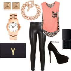 Leopard and Leather by vaneros on Polyvore