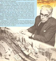Wilbert Awdry - with his model railway as featured in an annual.
