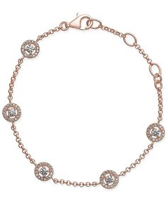 Thomas Sabo Rose Gold-Plated Sterling Silver Crystal Disc Bracelet