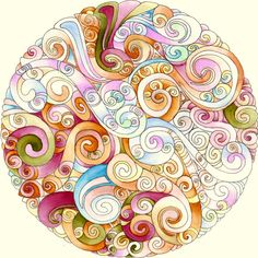 Mandala 24 October 2011 by Artwyrd (via Deviant Art).  The whole gallery is beautiful, colorful doodles like this.