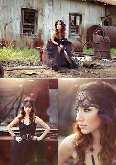 photo shoot ideas | photo shoot ideas / Vixen-Rocker-Bride-Boudoir-Shoot-TKB.jpg, edgy ...