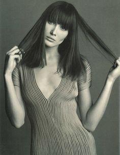Carla Bruni by Steven Meisel, 1993