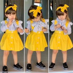 Gente que coisa fofa. Fashion Kids, Baby Girl Fashion, Toddler Fashion, Cute Outfits For Kids, Toddler Outfits, Toddler Girl Style, Dresses Kids Girl, Cute Baby Clothes, My Baby Girl