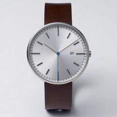 203 Series by Uniform Wares (brushed case/walnut strap) at Dezeen Watch Store: http://www.dezeenwatchstore.com/shop/uniform-wares-203-series-brushedwalnut/ #watches