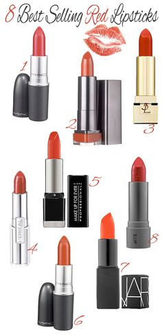 Follow Rent a Stylist https://www.pinterest.com/rentastylist/ 8 Best Red Lipsticks