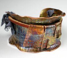 Copper Cuff Bracelet Hammered Copper Handcrafted Cuff by FebraRose