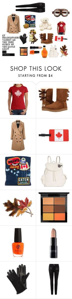 """""""Aph Canada Styled Look"""" by leitan-goldfish on Polyvore featuring Los Angeles Pop Art, UGG, Burberry, Travelon, Dsquared2, Steve Madden, Anne Klein, MAC Cosmetics, Lanvin and Paige Denim"""