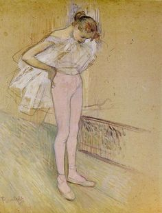 Toulouse Lautrec, 1890. Oil on card.
