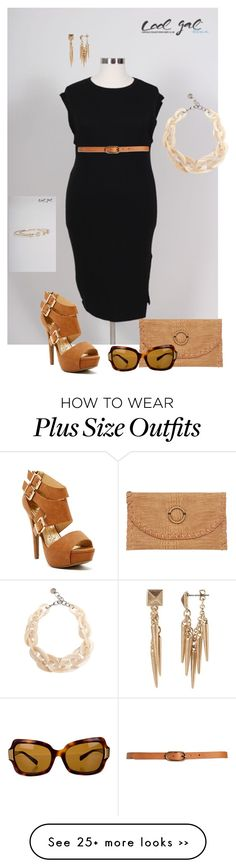 """""""@coolgalblue- plus size"""" by gchamama on Polyvore featuring PONO, Oliver Peoples and Banana Republic"""