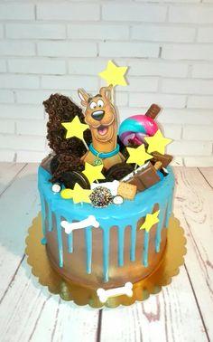 Scooby Doo Birthday Cake, Scooby Doo Cake, 5th Birthday Cake, Sons Birthday, Birthday Crafts, Birthday Parties, Birthday Traditions, Specialty Cakes, Drip Cakes