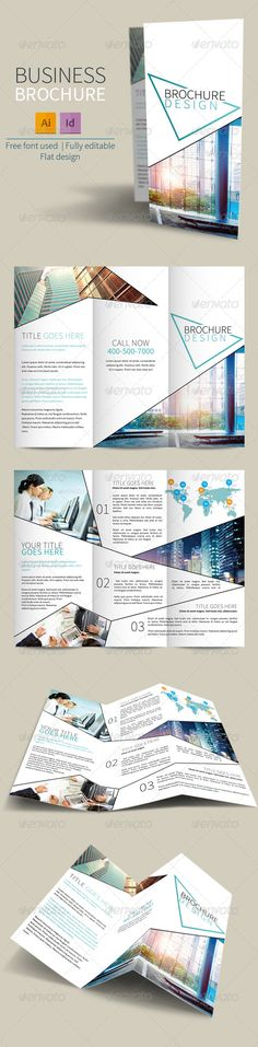 trifold brochure template by meedea the brochure is a designed for any types of companies it is made by simple shapes in flat design