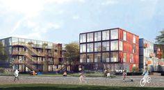 Jan Bitter, Holzer Kobler Architectures, Nipkow Landscape Architecture, Berlin, Student Residence, Containerdorf