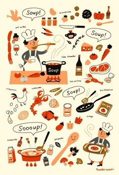 #food #illustrations #soup