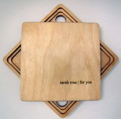 Custom CD Case laser etched wood, personalized with text. $36.00, via Etsy.