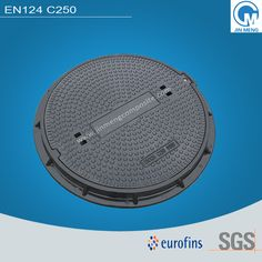 EN124 C250 manhole cover with clear opening 600, cover diameter 650