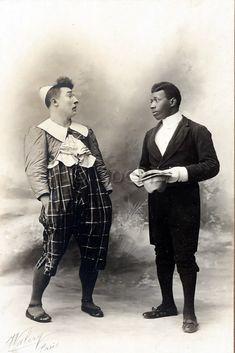 Le duo de clowns Footit (ou Foottit) et Chocolat, photographie du studio Walery Paris, c.1900. © Docpix
