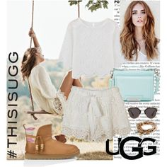 Play With Prints In UGG: Contest Entry by mila96h on Polyvore featuring UGG Australia, Vince Camuto, Lizzy James, Christian Dior, UGG and thisisugg