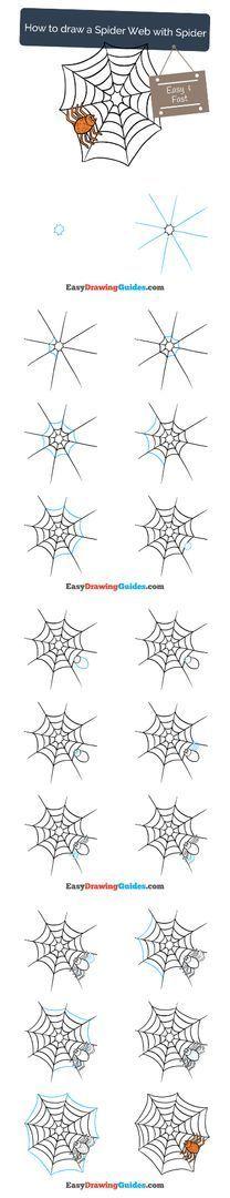 Easy Drawing Tutorial, Flower Drawing Tutorials, Drawing Tutorials For Kids, Drawing For Kids, Flower Drawings, Drawing Ideas, Scary Drawings, Halloween Drawings, Animal Drawings
