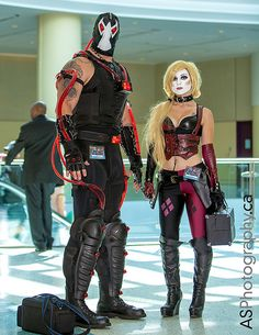 Bane & Harley Quinn at Fan Expo 2013 Toronto   Flickr - Photo Sharing!