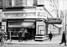"""The Silver Rail Tavern in the located at Yonge Street. Toronto Archives, item The last time that I visited the Silver Rail Tavern was in when an elderly aunt and I visited it for lunch. I chose """"the Rail"""" as I knew that when she had been younger, it… Toronto Bars, Toronto City, Brunswick House, Yonge Street, Classic Jazz, Canadian Travel, Canadian History, Toronto Canada, Canada Eh"""