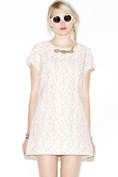 1960s Lace Mini Dress