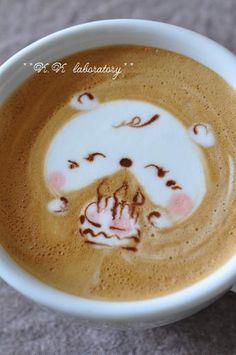 くまさんとBirthday cake! ♥ Coffee