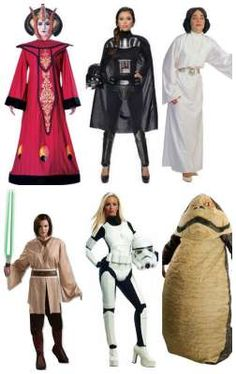 Womens Star Wars Adult Halloween Cosplay Costume Darth Vader Princessleia Jedi Queen Amidala