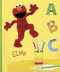 Loving this Elmo Peel & Stick Giant Decal on #zulily! #zulilyfinds