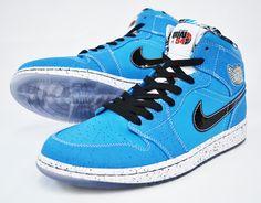 pretty nice f0c88 b93d5 ... Air Jordan 1 (I) Retro High - Quai 54 - Laser Blue Black ...