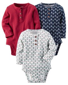 Crafted in babysoft cotton, these quick change bodysuits are the perfect starters to any little outfit.