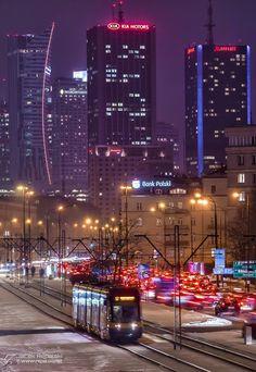 Warsaw Centrum at Night