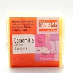 Jabón de Manzanilla - Il fior di loto - 100gr, 1,90€ en Viva Nutrición - Curativo y rejuvenecedor para pieles sensibles, irritadas y dañadas.
