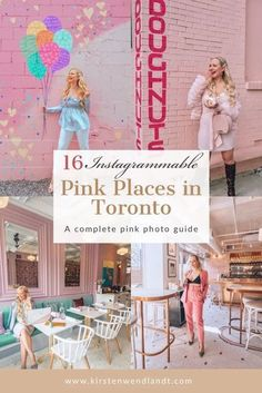 On the hunt for the best and most instagram-worthy pink places in Toronto? Look no further. As a native to Toronto and a certified pink lover myself I've put together this list of all the places you won't want to miss. This post has all the hottest pink spots from restaurants, to pink walls of Toronto, ice cream parlours and more. If you're a lover of pink you won't want to miss checking out this list of pink photo spots in Toronto. Toronto Vacation, Toronto Travel, Ontario Travel, Pink Restaurant, Travel Guides, Travel Tips, Travel Destinations, Pink Photo, Instagram Worthy