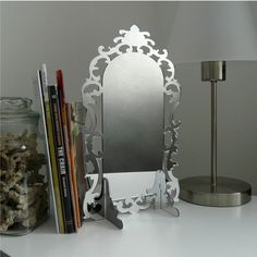 Acrylic Mirror Modern Design Ornate Rococo Style by UrbanAnalog, $30.00