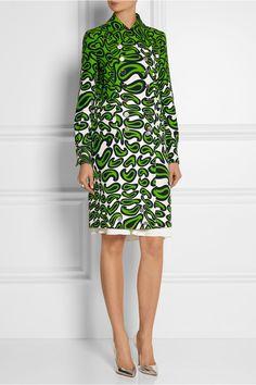 Miu Miuprinted wool and silk-blend coat