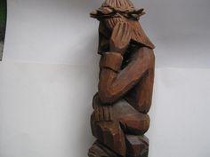 RZEZBA LUDOWA - JEZUS FRASOBLIWY. (5963498276) - Allegro.pl - Więcej niż aukcje. Poland, Folk, Sculpture, Texture, Crafts, Surface Finish, Manualidades, Popular, Forks